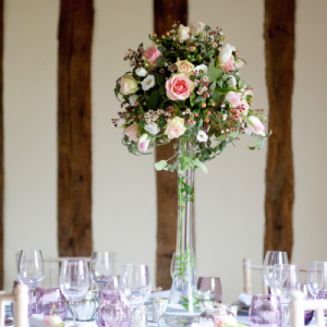 Table Flowers and Lighting by Tasha Vass Floristry